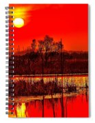 Firey Dawn Over The Marsh Spiral Notebook