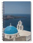 Firostefani Church On Santorini Spiral Notebook