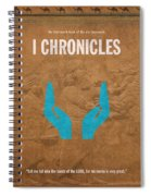 First Chronicles Books Of The Bible Series Old Testament Minimal Poster Art Number 13 Spiral Notebook