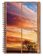 First Dawn Barn Wood Picture Window Frame View Spiral Notebook