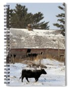 First Day Of Winter Spiral Notebook