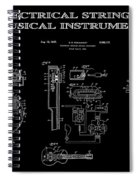 First Electric Guitar 2 Patent Art  1937 Spiral Notebook