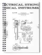 First Electric Guitar Patent Art  1937 Spiral Notebook