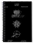 First Electric Motor 2 Patent Art 1837 Spiral Notebook