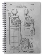 First Gas Pump Patent Drawing Spiral Notebook