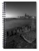 First Hint Of Sunlight In Black And White Spiral Notebook