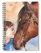 Horse Painting Of Paint Horse And Girl First Kiss Spiral Notebook