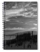 First Light At Cape Cod Beach Bw Spiral Notebook