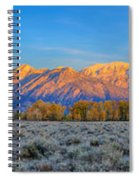 First Light On The Tetons Limited Edition Panorama Spiral Notebook