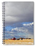 First Snow On Storybook Farm Spiral Notebook