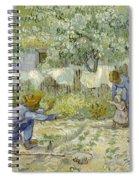 First Steps - After Millet Spiral Notebook
