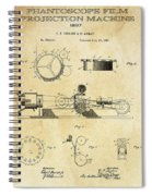 First True Motion Picture Projector Patent  1897 Spiral Notebook