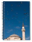 Firuz Aga Mosque Seagulls Spiral Notebook