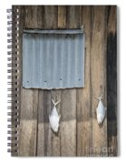 Fish Drying Outside Fisherman House Spiral Notebook