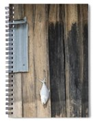 Fish Drying Outside Rustic Fisherman House Spiral Notebook