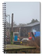 Fish House In Fog Spiral Notebook