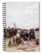 Fish Sale On The Beach  Spiral Notebook