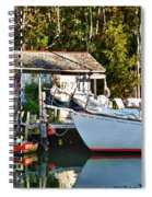 Fish Shack And Invictus Painted Spiral Notebook