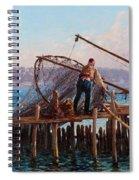 Fishermen Bringing In The Catch Spiral Notebook