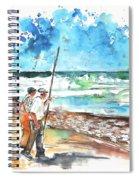 Fishermen In Praia De Mira 02 Spiral Notebook