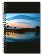 Fisheye Sunset Spiral Notebook
