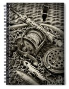 Fishing - All That Gear In Black And White Spiral Notebook