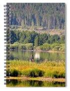 Fishing At George Town Lake Spiral Notebook