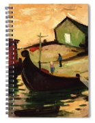 Fishing Barges On The River Sugovica Spiral Notebook