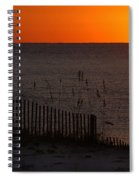 Fishing Boat And The Sunrise Spiral Notebook