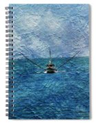 Fishing Boat As A Painting 2 Spiral Notebook