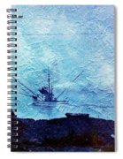 Fishing Boat As A Painting Spiral Notebook