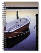 Fishing Boat At Dawn Spiral Notebook