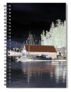 Fishing Boat Dock - Ketchican - Alaska - Photopower 01 Spiral Notebook