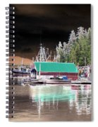 Fishing Boat Dock - Ketchican - Alaska - Photopower 02 Spiral Notebook