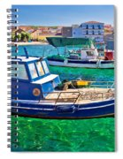 Fishing Boat On Turquoise Sea Spiral Notebook