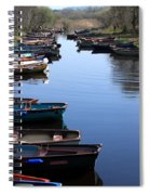 Fishing Boat Row Spiral Notebook