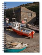 Fishing Boats At Mullion Cove Spiral Notebook