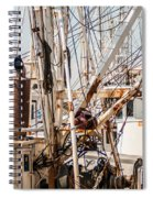 Fishing Boats Equipment Chaos Spiral Notebook