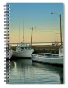 Fishing Boats In A Harbor Towards Evening On Prince Edward Island Spiral Notebook