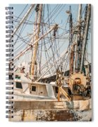 Fishing Boats In Harbour Spiral Notebook