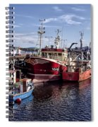 Fishing Boats In Killybegs Donegal Ireland Spiral Notebook