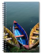 Fishing Boats - Nepal Spiral Notebook