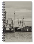 Fishing Boats - Wildwood New Jersey Spiral Notebook