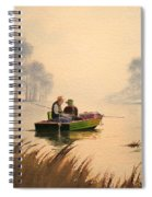 Fishing By Sunrise Spiral Notebook