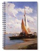 Fishing Craft With The Rivere Degli Schiavoni Venice Spiral Notebook