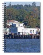 Fishing Docks On Puget Sound Spiral Notebook