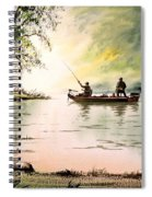 Fishing For Bass - Greenbrier River Spiral Notebook