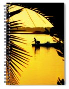 Fishing In Gold Spiral Notebook