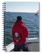 Fishing In Rough Seas Spiral Notebook