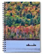 Fishing In The Fall Colors On Lake Chocorua Spiral Notebook